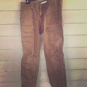 LOFT olive cargo pants - 4P Marisa fit!